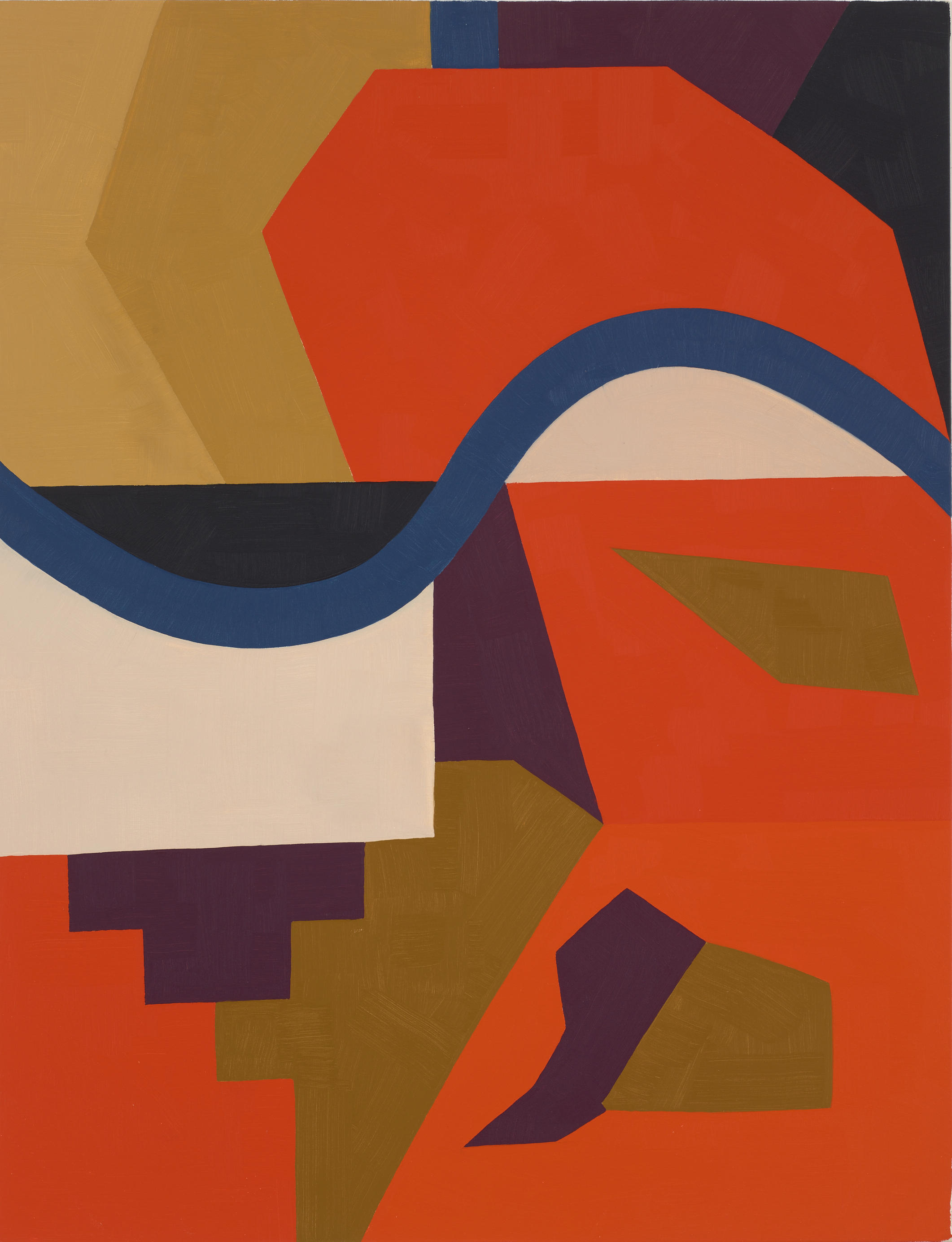 Face the Wave, 1989-90, oil on canvas, 52 x 40 inch
