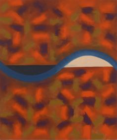 Making Waves, 1989-90, oil on canvas, 60 x 60 inches