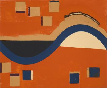 The Fist Wave, 1989-90, oil on canvas, 28 x 34 inches