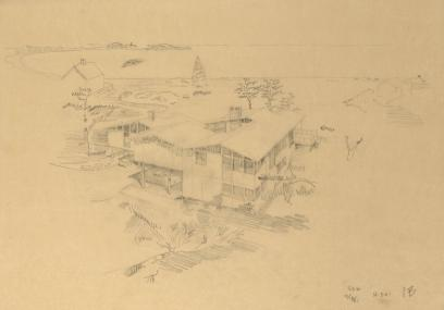GSR SK-3-61 1B, 1961, graphite on tracing paper, 18 x 24 inches