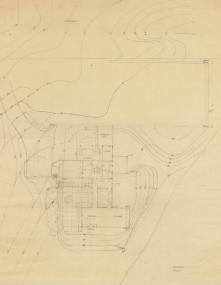 EPM Untitled Large Site Plan, 1963, graphite on tracing paper, 30 x 24 inches