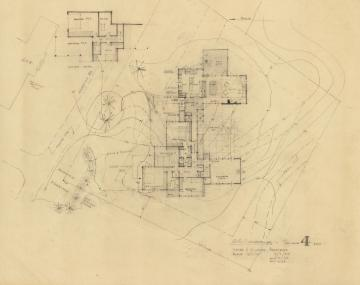 GSR Scheme 4 DWG 1, 1962, graphite on tracing paper, 24 x 31 inches