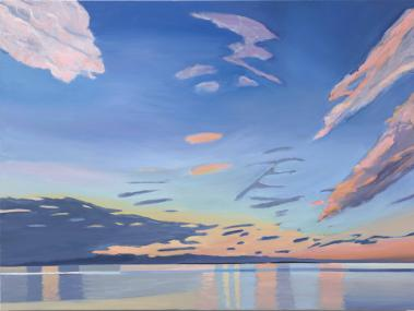 Day's End, 2019, oil on canvas, 30 x 40 inches